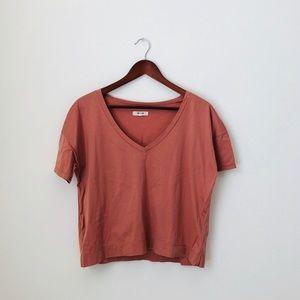 Madewell•Boxy Crop Shirt